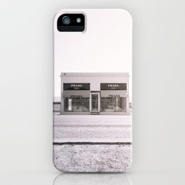 PradaMarfa - Black and White Version iPhone Case