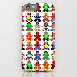 Superhero Gingerbread Man iPhone Case