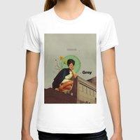 grey T-shirts featuring Grey by Frank Moth