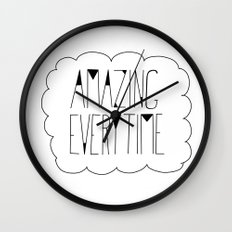 (be) Amazing everytime Wall Clock