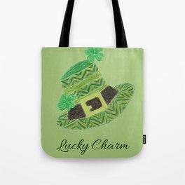 Green chevron leprechaun's hat lucky charm Tote Bag