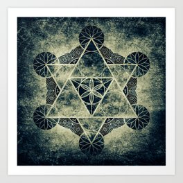 Sacred Geometry for your daily life -  Platonic Solids - IGNIS Art Print