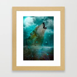 I'll See You In My Dreams (Cry of the Wolf) Framed Art Print