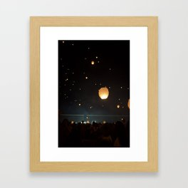 Night Lights Framed Art Print