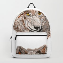 Wolf vector illustration Backpack