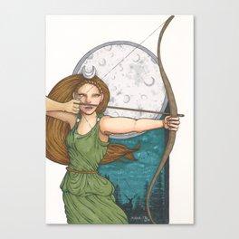 Goddess Diana Canvas Print