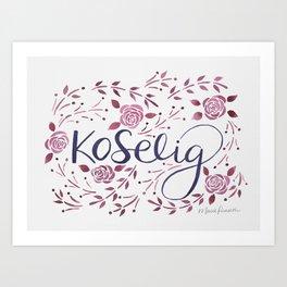 Koselig - Burgundy Art Print