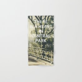 New York (There is a Heart in Central Park) Hand & Bath Towel