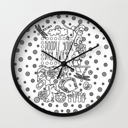 DOODLE YOUR DAY AWAY Wall Clock