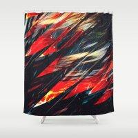 blade runner Shower Curtains featuring Blade runner by Kardiak