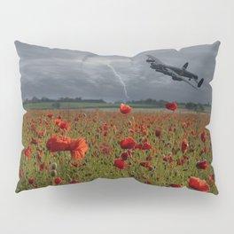 Lancaster Bomber Over A Poppy Field Pillow Sham
