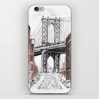 dumbo iPhone & iPod Skins featuring DUMBO by Margarita Zhdanova