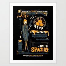 Nello Spazio Art Print