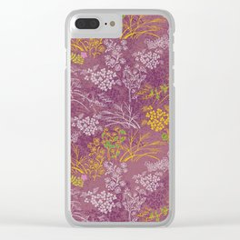 Japanese pattern floral purple Clear iPhone Case