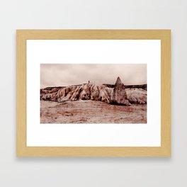 Scratch Mountain - Survive Kapadokya Framed Art Print