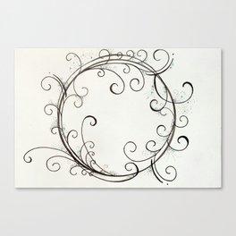 Fairy Dust Circle Canvas Print