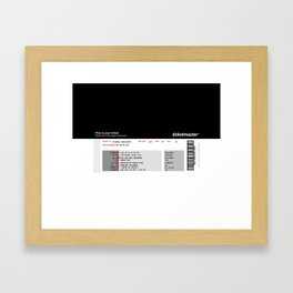 Concert Ticket Stub - Greenday Framed Art Print
