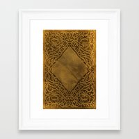 book cover Framed Art Prints featuring Vintage Ornamental Book Cover by Nicolas Raymond