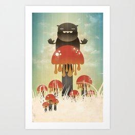 Shroom Guard Art Print