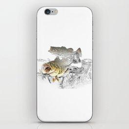 Largemouth Black Bass Fishing Art iPhone Skin