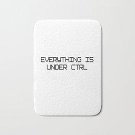 Funny Software Engineer CTRL Bath Mat