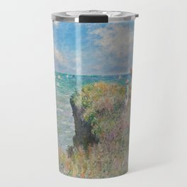 Claude Monet - Cliff Walk at Pourville, 1882 Travel Mug