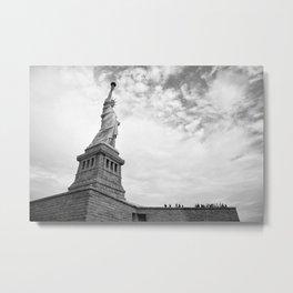 Black and White Liberty Metal Print