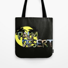 Palm Desert Large Letter with Moon Tote Bag