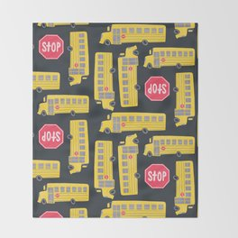 Bus Pattern Throw Blanket