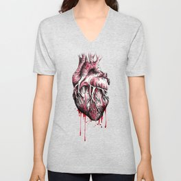 and put the heart I have laid bare Unisex V-Neck
