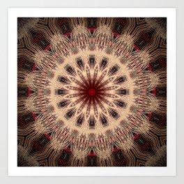 Bronze Burgundy Mandala Art Print