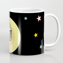 Flying angel with lantern Coffee Mug