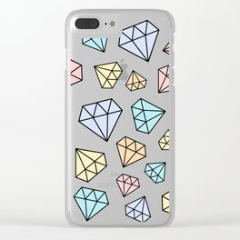 CUTE PASTEL DIAMONDS #2 Clear iPhone Case