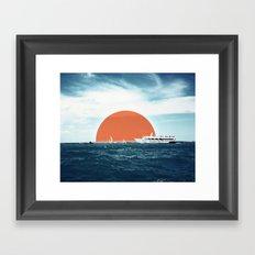 Shipping Sun Framed Art Print