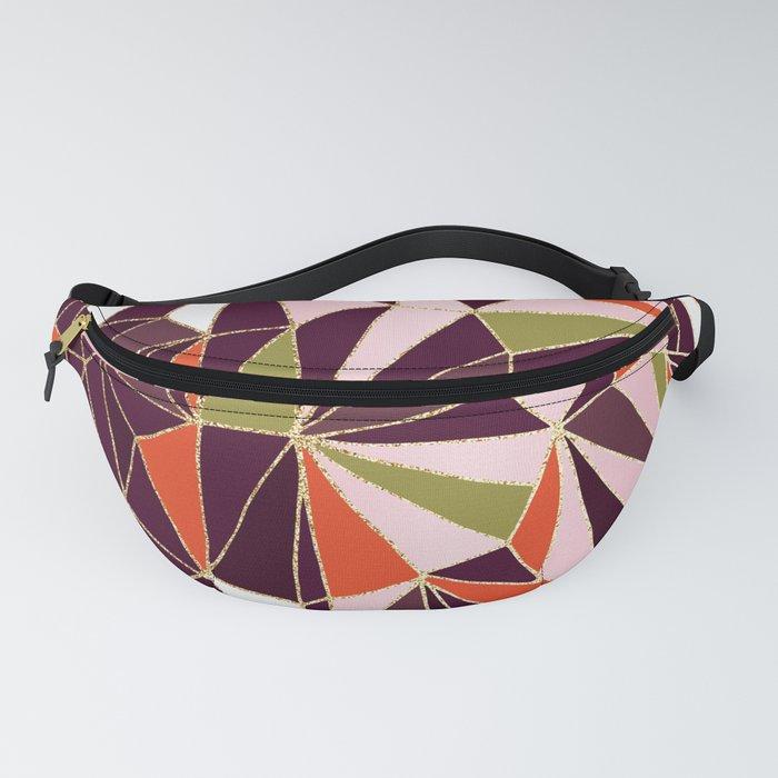 New Art Deco Geometric Pattern - Burgundi and Pink #deco #buyart Fanny Pack