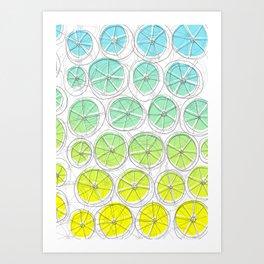 Blou Lemonade Art Print