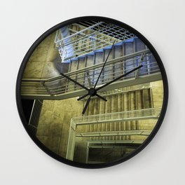 Exterior Stairway at the Getty Wall Clock