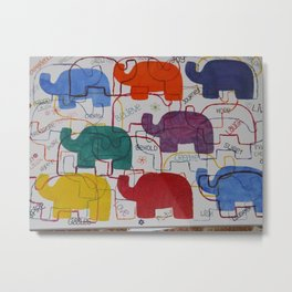 Elephant slumber Metal Print