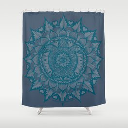 Turtle Mandala by Julie Oakes Shower Curtain