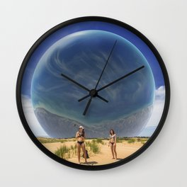 Michigan Selfie Ball Wall Clock