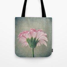Flat Pink Gerbera Textured Tote Bag