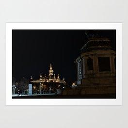 Vienna at Night Art Print