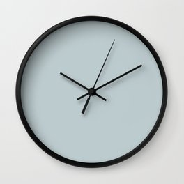 Ultra Light Pastel Blue Solid Color Pairs with Sherwin Williams 2020 Forecast Colors Sleepy Blue Wall Clock