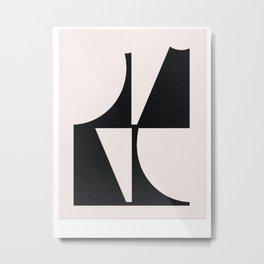 Curve Line Minimal Poster Metal Print