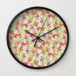 Loose watercolor flower pattern Wall Clock