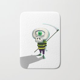 One eye casual skeleton Bath Mat