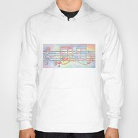 music notes Hoodies featuring Music Notes by Rick Borstelman