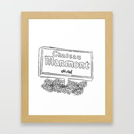 Chateau Marmont Sign Framed Art Print