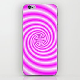 Pink and White Candy Swirl iPhone Skin