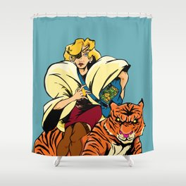 The Tigress Shower Curtain
